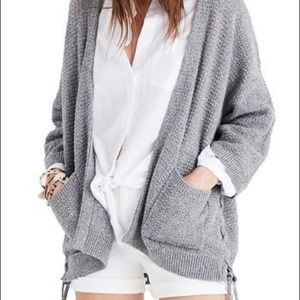 Madewell Side Lace Cardigan Sweater X Small
